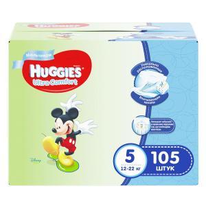 Подгузники  Ultra Comfort 5 для мальчиков (12-22 кг) 105 шт. Huggies