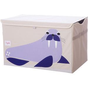 Сундук для хранения игрушек  Синий морж 3 Sprouts. Цвет: фиолетовый