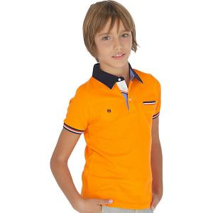 Поло Mayoral. Цвет: оранжевый