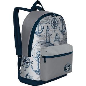 Рюкзак  RQ-007-4 №1 Grizzly. Цвет: сине-серый
