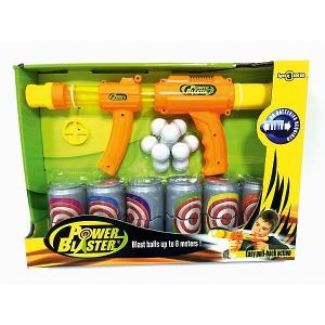 Бластер Toy Target Power Blaster с банками, (оранжевый)