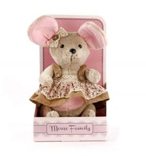 Мягкая игрушка  Country mouse Мышка шарнирная Миндалька в сарафане Angel Collection