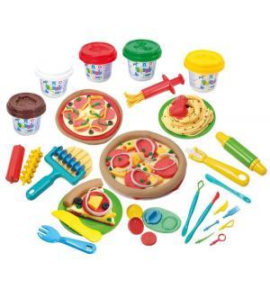 Набор с пластилином  Моя пицерия 5 цветов Playgo