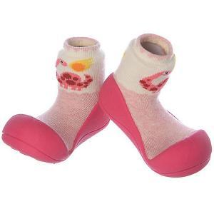 Тапочки  Dinosaur для девочки Attipas. Цвет: розовый