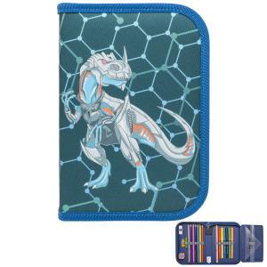 Пенал  на молнии Metal Dino Tiger