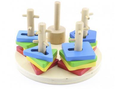 Деревянная игрушка  Логический круг Мир деревянных игрушек
