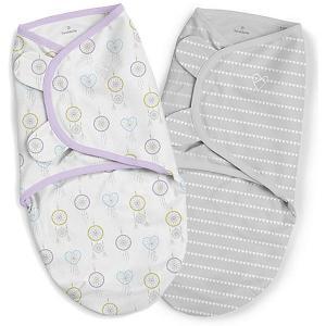 Конверт для пеленания на липучке , серый, сердечки Summer Infant. Цвет: серый