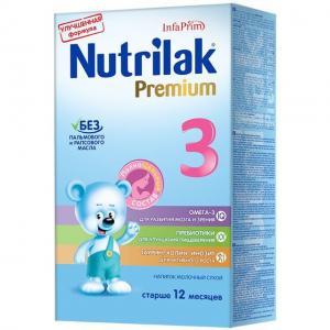 Молочная смесь Нутрилак Premium 3 с 12 месяцев, 350 г Nutrilak