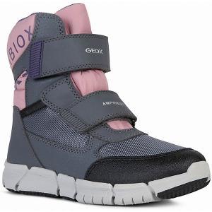 Утеплённые сапоги Geox. Цвет: rosa/grau