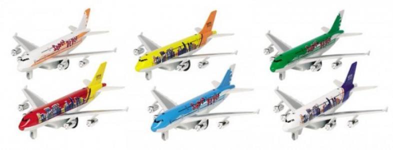 Самолет со светом и звуком 6 видов 18.5 см GK Goki