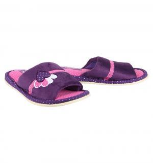 Тапочки , цвет: фиолетовый Effa
