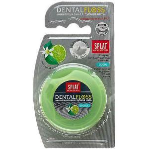 Зубная нить объёмная  Professional Dental Floss Бергамот-лайм, 30 м Splat