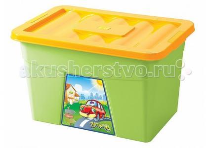 Ящик для игрушек на колесах 600х400х360 мм с аппликацией Пластишка