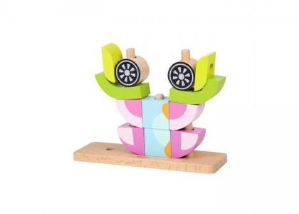 Деревянная игрушка  Вертикальный пазл Совенок Classic World