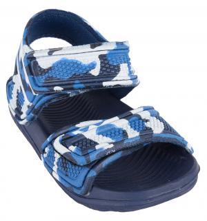 Сандалии пляжные , цвет: синий Twins