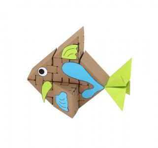 Конструктор из картона  Морские рыбки, элементов 26 Yohocube