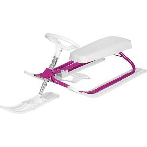 Снегокат  Комфорт, бело-фиолетовый Дэми. Цвет: lila/weiß