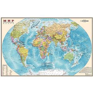 Настольная карта Мира, политическая, 1:55М, двухсторонняя Издательство Ди Эм Би