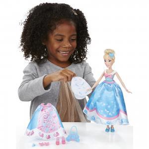 Кукла Disney Princess Золушка в платье со сменными юбками, 28 см Hasbro