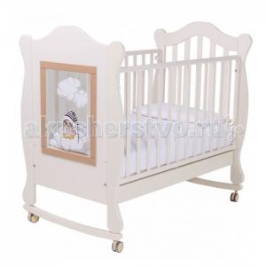 Детская кроватка  качалка Finestra 120х60 с декором Papaloni
