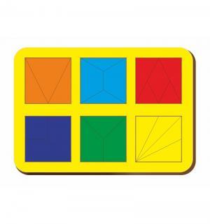 Рамка-вкладыш  Сложи квадрат 6 квадратов уровень 2 Woodland