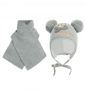 Комплект шапка/шарф  Misio серый Ewa
