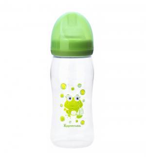 Бутылочка  Мои первые друзья полипропилен с рождения, 250 мл, цвет: зеленый Курносики