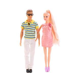 , Набор из 3-х кукол (Муж+Жена беременная+малыш) с аксесс., в ассотр. Defa Lucy