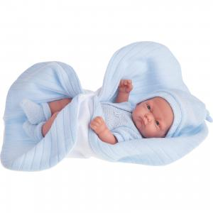 Кукла-младенец Карлос в голубом одеяле, 26 см, Munecas Antonio Juan