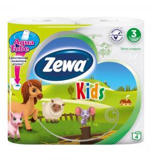 Туалетная бумага Детская 3 слоя , 4 шт Zewa