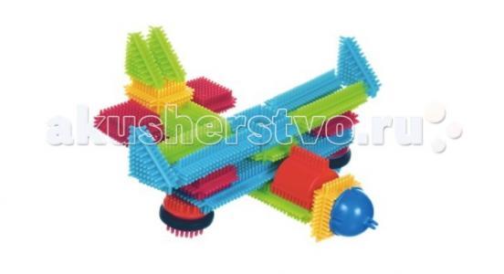 Конструктор  игольчатый в чемоданчике 50 деталей Bristle Blocks