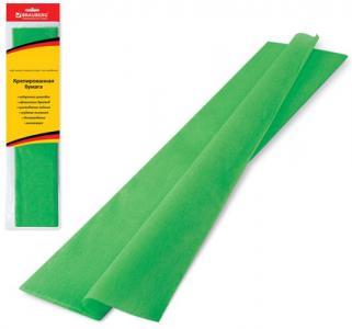 Бумага цветная нестандарт  крепированная зеленая Brauberg