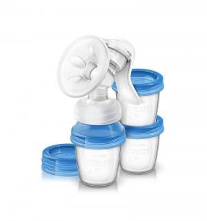 Ручной молокоотсос  SCF330/13 ручнойc контейнерами серии Natural Philips Avent