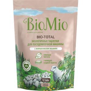 Таблетки для посудомоечной машины BioMio с маслом эвкалипта, 12 шт BIO MIO
