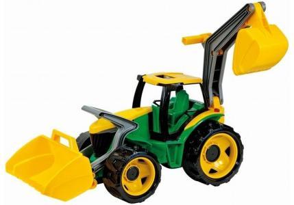 Трактор с грейдером и ковшом 65 см Лена