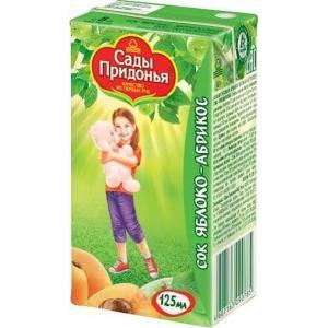 Сок  яблоко-абрикос, 125 мл Сады Придонья