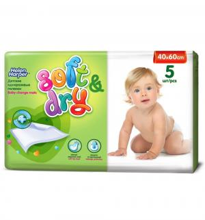 Детские пеленки  Soft&Dry 40х60 см, 5 шт Helen Harper