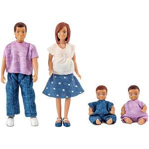 Куклы для домика  Семья с двумя малышами Lundby. Цвет: разноцветный
