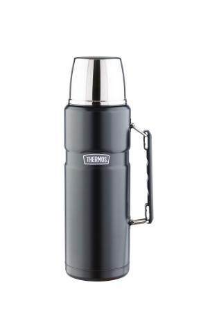 Термос со стальной колбой  для напитков SK2020 Matt, цвет: черный Thermos