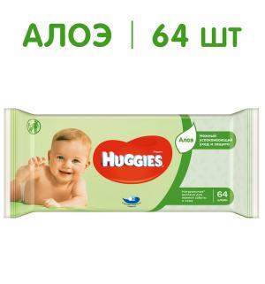 Влажные салфетки  Ultra Comfort Aloe Comfort, 64 шт Huggies