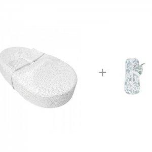 Пеленка  Кокон с шапочкой Soft Hugs Лесная сказка и Матрас-кокон Premium Form Звездопад AmaroBaby