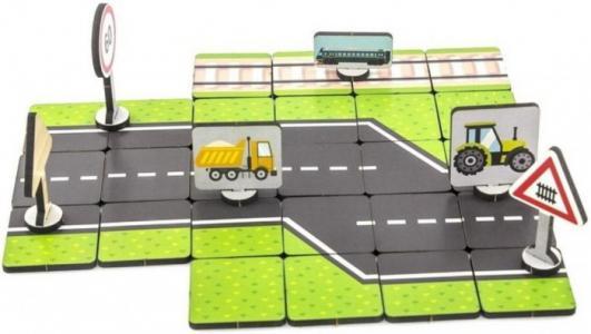 Деревянная игрушка  Правила дорожного движения За городом Woodland
