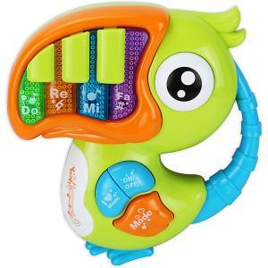 Музыкальная игрушка  Попугай Жирафики. Цвет: разноцветный