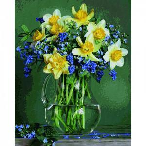 Картина по номерам Букет весенних цветов 40х50 см Schipper