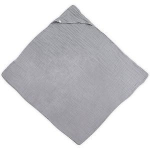 Муслиновое полотенце с капюшоном Jollein, 100х100 см (Серый) jollein. Цвет: серый деним