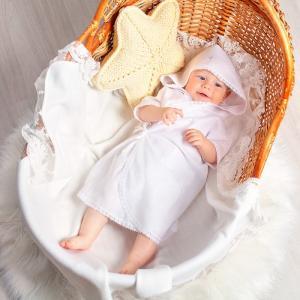 Распашонка с капюшоном для крещения Pituso