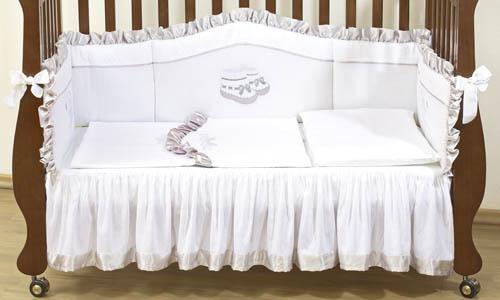 Комплект в кроватку  Silver 120х60 (4 предмета) Giovanni