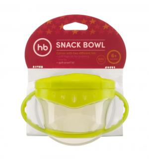 Тарелка  Snack bow с крышками, цвет: салатовый Happy Baby