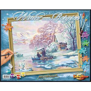 Картина по номерам  Горное озеро зимой, 40х50 см Schipper. Цвет: разноцветный