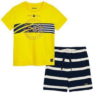 Комплект : футболка и плавки Mayoral. Цвет: желтый